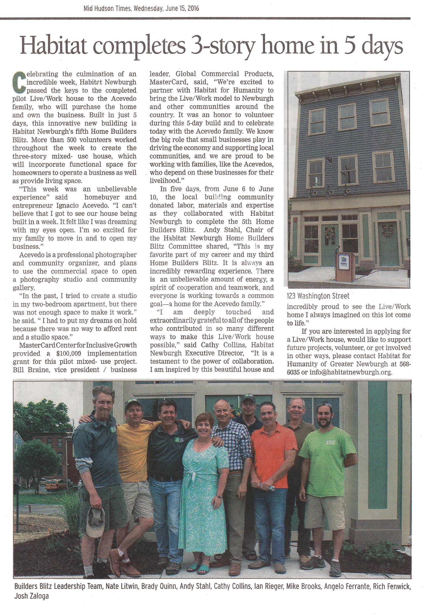 Rieger Homes, Habitat For Humanity, Builders Blitz 2016