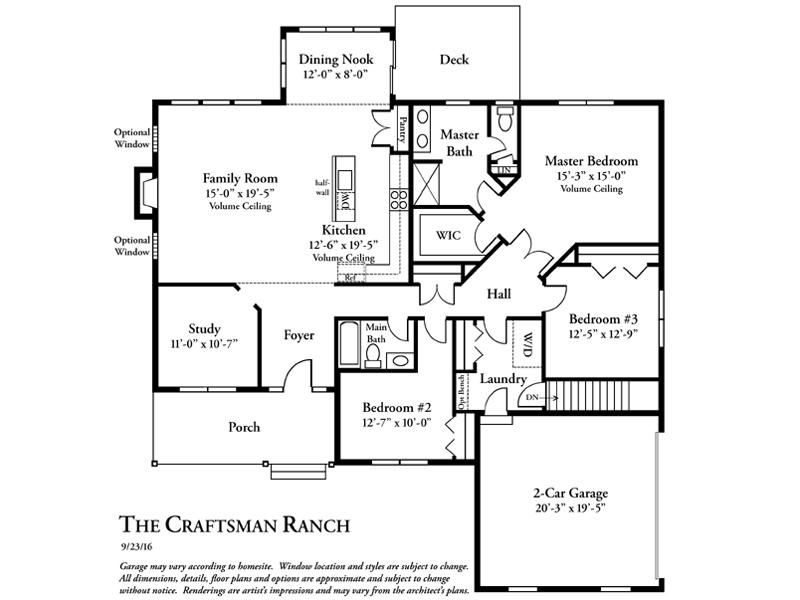 Rieger Homes, Newburgh NY, Craftsman Ranch